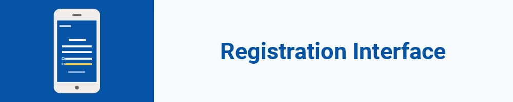 Registration Interface