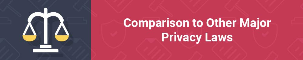 Comparison to Other Major Privacy Laws
