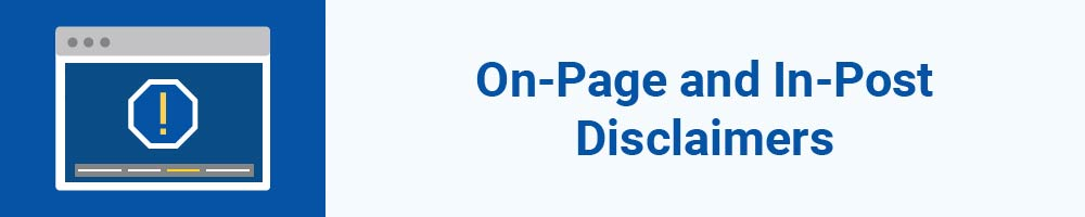 On-Page and In-Post Disclaimers