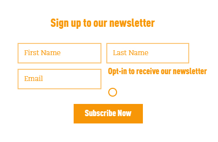 Well and Truly newsletter sign-up form