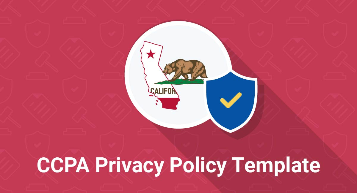 CCPA Privacy Policy Template