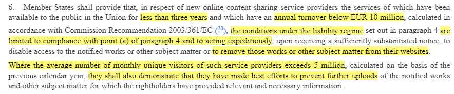 EU Copyright Directive Article 2: Definitions: Online content-sharing service provider section