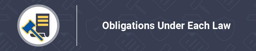 Obligations Under Each Law