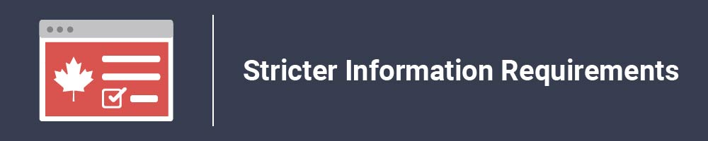Stricter Information Requirements