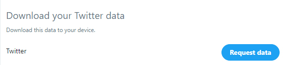Twitter: Download Data page