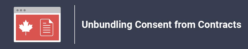 Unbundling Consent from Contracts