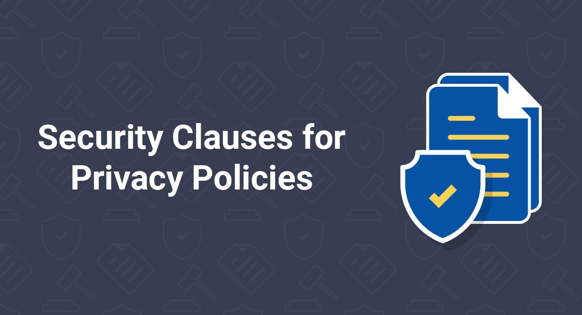 Security Clauses For Privacy Policies