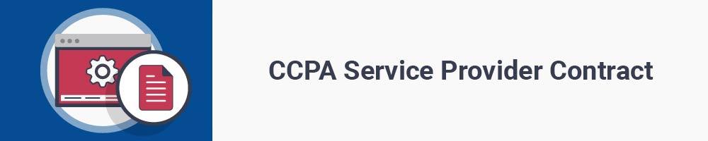 CCPA Service Provider Contract
