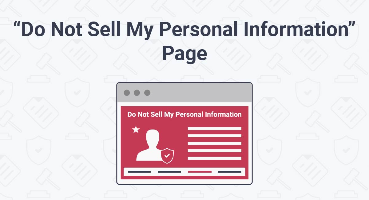 """Do Not Sell My Personal Information"" Page"