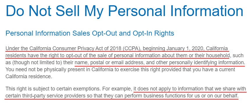 National Apartment Association: Do Not Sell My Personal Information page