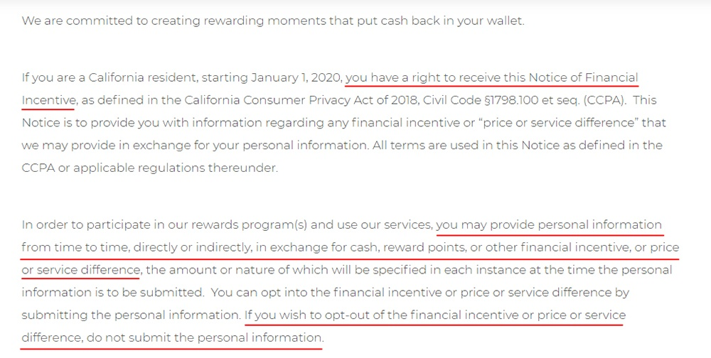 Prodege Notice of Financial Incentive