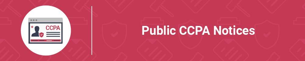 Public CCPA Notices