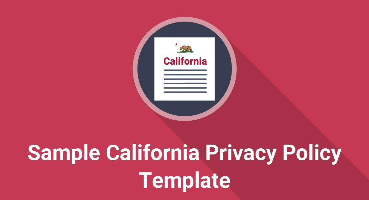 Image for: Sample California Privacy Policy Template