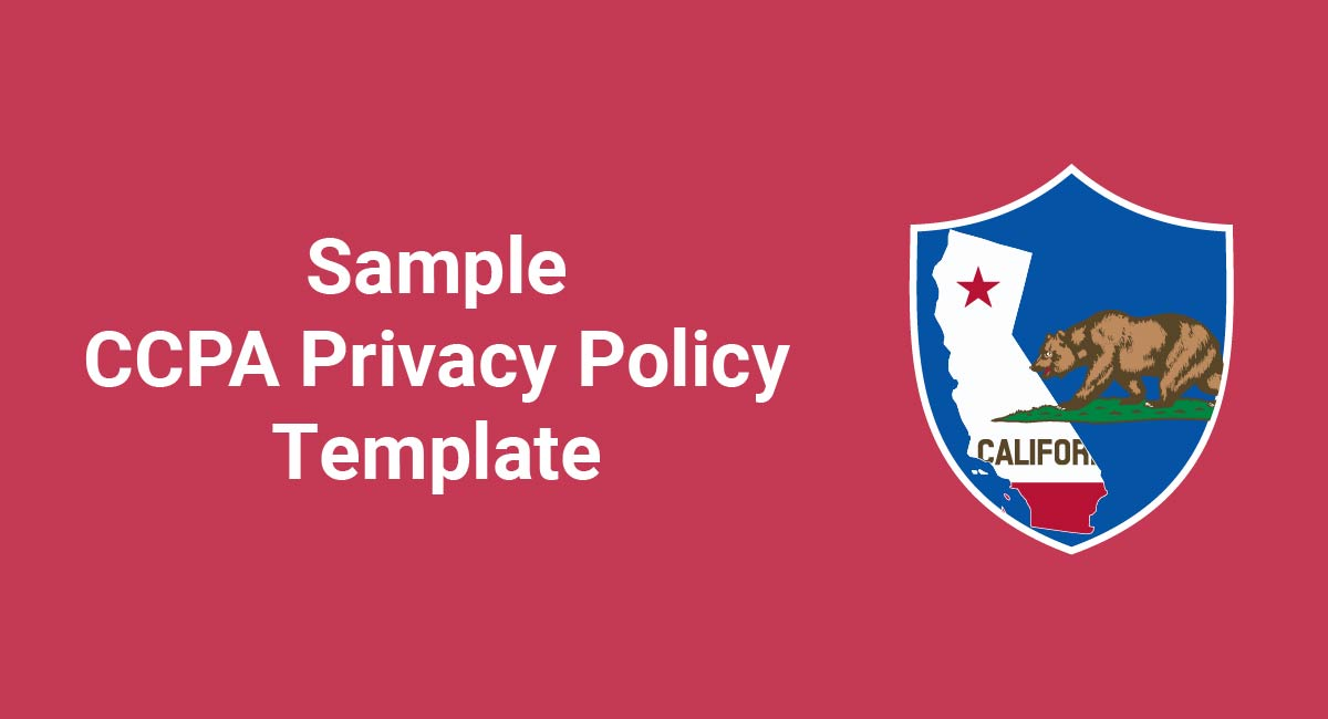 Image for: Sample CCPA Privacy Policy Template