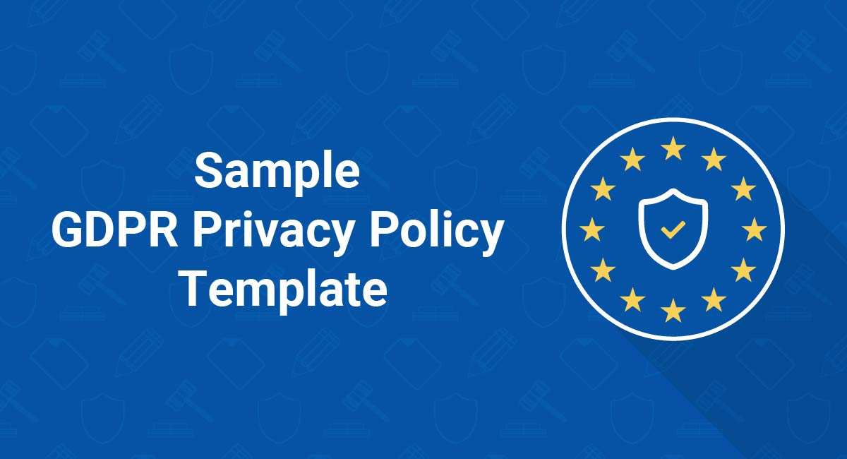 Sample GDPR Privacy Policy Template