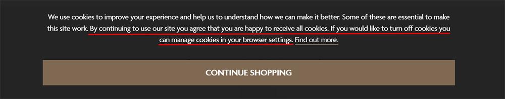 Watches of Switzerland Cookies Consent Notice