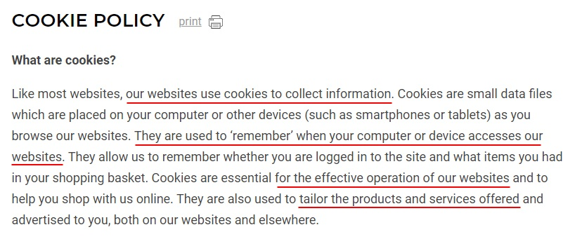 Gymshark Cookie Policy: Intro clause