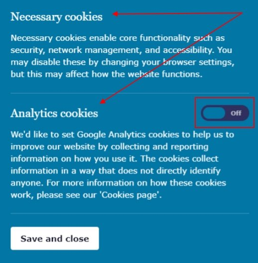 ICO cookie notice