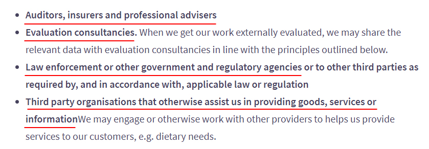 LeadersPlus Privacy Statement: Share personal data clause