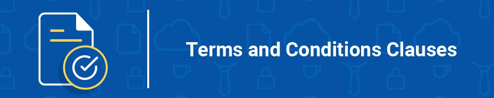 Terms and Conditions Clauses