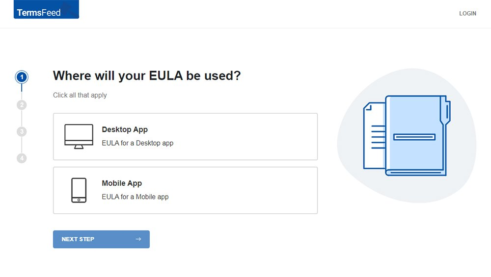 TermsFeed EULA Generator: Create EULA for your App - Step 1