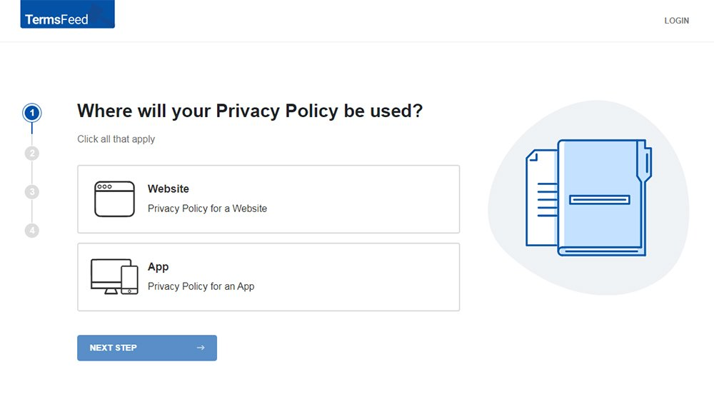 TermsFeed Privacy Policy Generator: Create Privacy Policy - Step 1