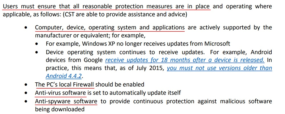 UCLan IT Security Policy: Users must ensure reasonable protection measures clause