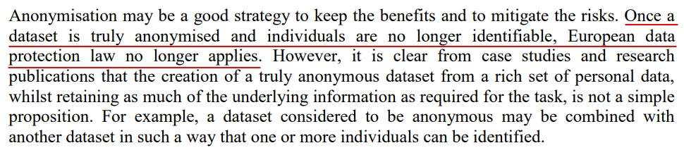 Article 29 Working Party Opinion on Anonymisation Techniques: Introduction - Anonymisation strategy section