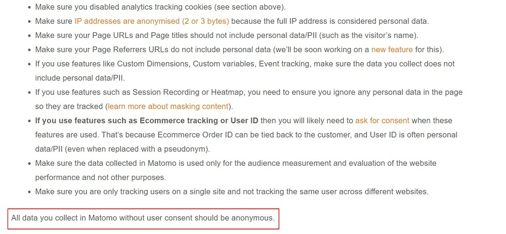 Matomo: How to Use Matomo Analytics Without Consent or Cookie Banner instructions