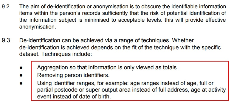 Northumberland County Council Anonymisation and Pseudonymisation Policy: De-identification techniques list