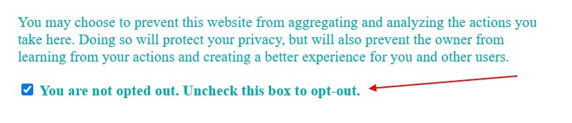 QHelp Privacy Policy: Opt out of analytics checkbox