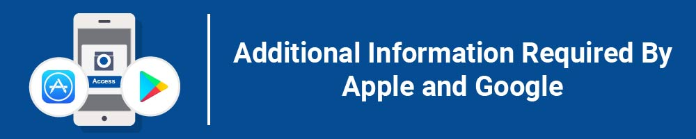Additional Information Required By Apple and Google
