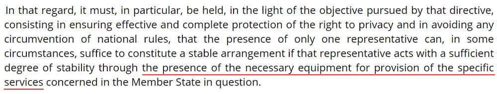 InfoCuria Case-law: Weltimmo v NAIH - Paragraph 30