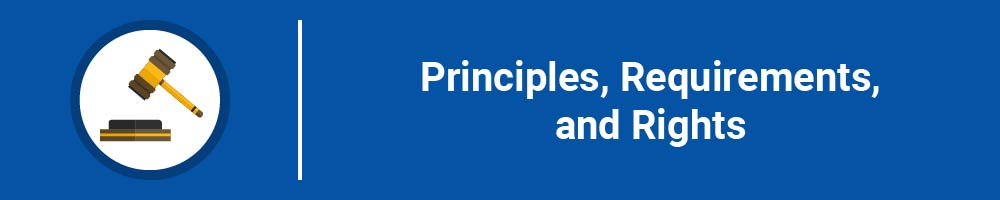 Principles, Requirements, and Rights