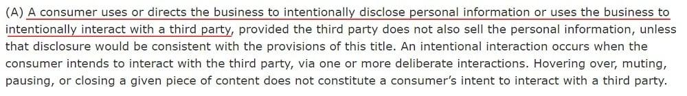California Legislative Information: CCPA - Section (t) (2) (A)