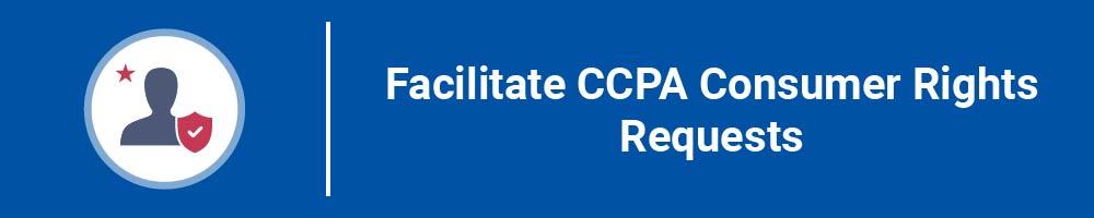 Facilitate CCPA Consumer Rights Requests