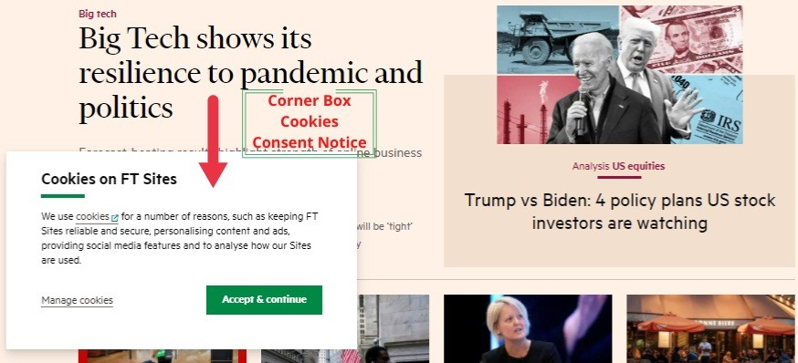 Financial Times Cookie Consent Notice
