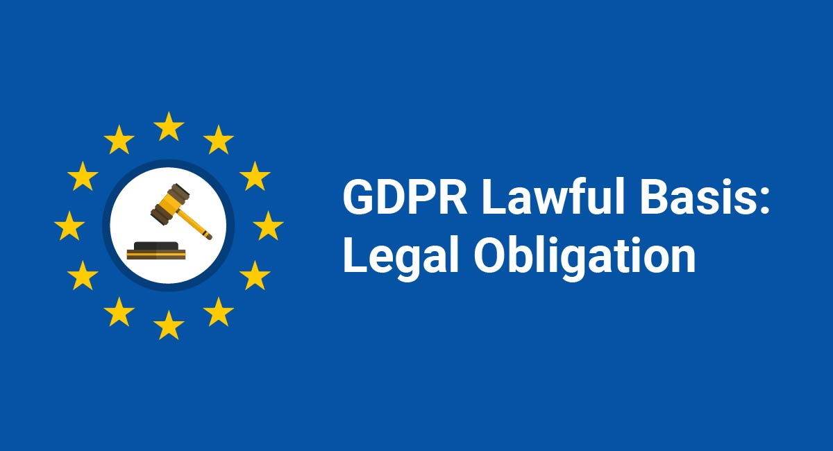 GDPR Lawful Basis: Legal Obligation