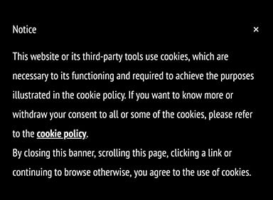 Generic Cookie Consent Notice with implied consent