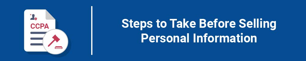 Steps to Take Before Selling Personal Information