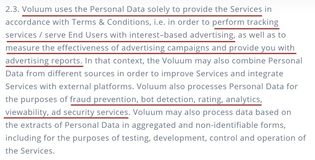 voluum-dsp-dpa-processing-personal-data-clause-provide-services-section