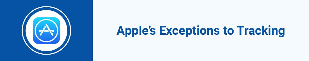Apple's Exceptions to Tracking