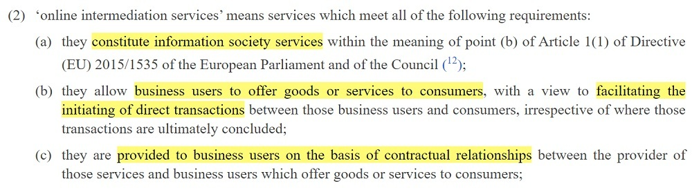 EUR-Lex P2BR: Article 2 Section 2