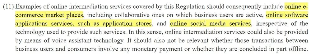 EUR-Lex P2BR: Section 11 excerpt