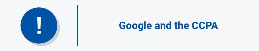 Google and the CCPA