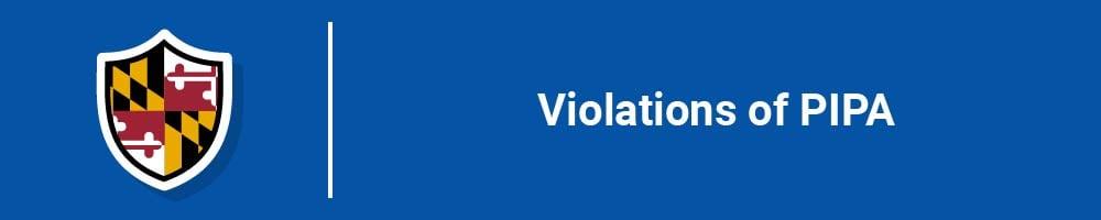 Violations of PIPA