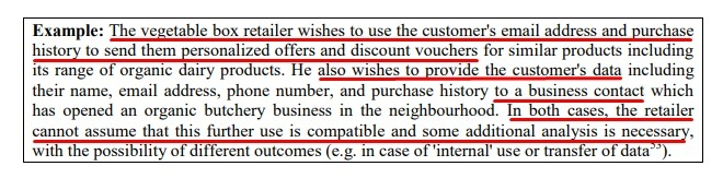 Article 29 Data Protection Working Party Opinion on Purpose Limitation: Example 2