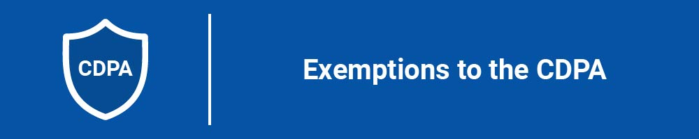 Exemptions to the CDPA