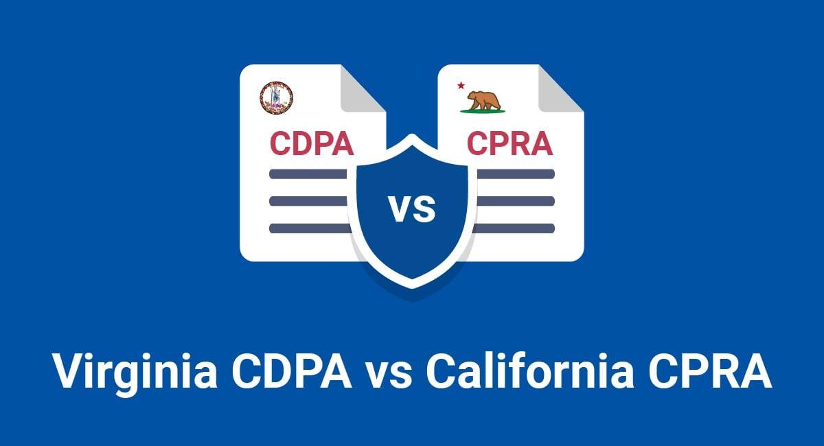 Virginia CDPA vs California CPRA