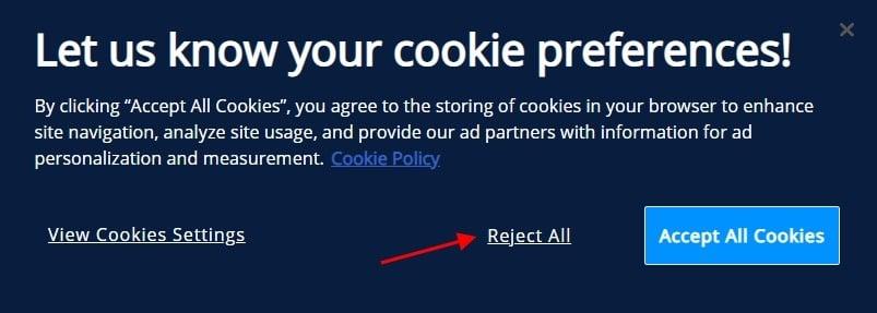 Sendinblue Cookie Consent notice